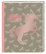Cover-Bild zu Slawik, Christiane (Fotogr.): Freundebuch - I LOVE HORSES - Beste Freunde