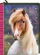Cover-Bild zu Slawik, Christiane (Fotogr.): Tagebuch mit Reißverschluss - Pferdefreunde