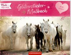 Cover-Bild zu Roß, Philipp (Illustr.): Pferdefreunde - Glitzersticker-Malbuch