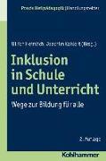 Cover-Bild zu Inklusion in Schule und Unterricht von Heimlich, Ulrich (Hrsg.)