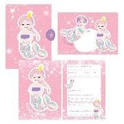 Cover-Bild zu Wirth, Lisa: 12 Glitzer Einladungskarten Meerjungfrau zum Geburtstag für Mädchen inkl. Umschläge   rosa glitzernde Geburtstagseinladungen für Kinder  
