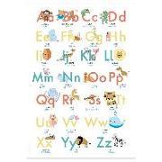 Cover-Bild zu Wirth, Lisa: ABC Poster 70,7x100 cm. Alphabet spielerisch mit Tieren lernen   Das ABC-Lernposter mit Groß- und Kleinbuchstaben  