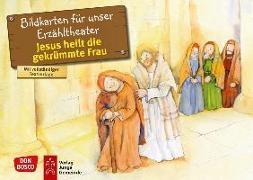 Cover-Bild zu Jesus heilt die gekrümmte Frau. Kamishibai Bildkartenset von Hitzelberger, Peter