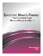 Cover-Bild zu Effective Minute-Taking: Tips to Improve Your Meeting-Recording Skills (eBook) von Daily, Business Management