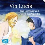 Cover-Bild zu Via Lucis. Der Lichtweg von Ostern bis Pfingsten. Mini-Bilderbuch von Arnold, Monika