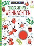 Cover-Bild zu Usborne Minis: Fingerstempeln Weihnachten von Smith, Sam