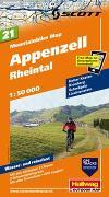 Cover-Bild zu Appenzell-Rheintal Mountainbike-Karte Nr. 21, 1:50 000. 1:50'000 von Hallwag Kümmerly+Frey AG (Hrsg.)