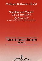 Cover-Bild zu Stabilität und Wandel im Unternehmen von Battmann, Wolfgang (Hrsg.)