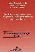 Cover-Bild zu Qualifizierungsmaßnahmen und psychosoziale Befindlichkeit bei Arbeitslosen von Resetka, Hans-Jürgen