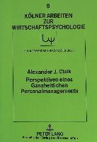 Cover-Bild zu Perspektiven eines Ganzheitlichen Personalmanagements von Cisik, Alexander J.
