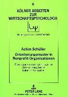 Cover-Bild zu Orientierungsmuster in Nonprofit-Organisationen von Schüller, Achim