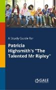 "Cover-Bild zu A Study Guide for Patricia Highsmith's ""The Talented Mr Ripley"" von Gale, Cengage Learning"