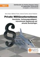 Cover-Bild zu Private Militärunternehmen (eBook) von Naeve, Henry