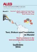 Cover-Bild zu Text, Diskurs und Translation im Wandel von Fandrych, Christian (Hrsg.)