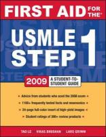 Cover-Bild zu First Aid for the USMLE Step 1 2009 von Le, Tao