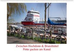 Cover-Bild zu Zwischen Hochdonn & Brunsbüttel: Pötte gucken am Kanal (Wandkalender 2021 DIN A2 quer) von Ola Feix, Eva