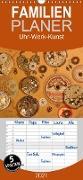 Cover-Bild zu Uhr-Werk-Kunst - Familienplaner hoch (Wandkalender 2021 , 21 cm x 45 cm, hoch) von Ola Feix, Eva