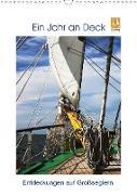Cover-Bild zu Ein Jahr auf Deck - Entdeckungen auf Großseglern (Wandkalender 2021 DIN A3 hoch) von Ola Feix, Eva