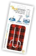 Cover-Bild zu Flexistand Red Tartan - superflacher Aufsteller für Smartphones und Mini-Tablets, Handyhalter