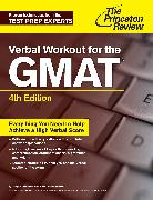 Cover-Bild zu Verbal Workout for the GMAT, 4th Edition (eBook) von The Princeton Review