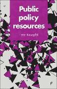 Cover-Bild zu Public policy resources von Knoepfel, Peter (University of Lausanne and the Taras Shevchenko University of Kiev.)