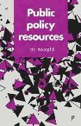Cover-Bild zu Public policy resources (eBook) von Knoepfel, Peter