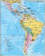 Cover-Bild zu Mittel- und Südamerika politisch 1: 70.000 000. 1:70'000'000 von Stiefel, Heinrich