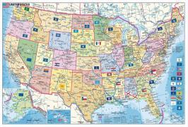 Cover-Bild zu USA Bundesstaaten mit Postleitzahlen 1:12000000