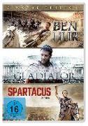 Cover-Bild zu BEN HUR/GLADIATOR/SPARTACUS DVD ST von Joaquin Phoenix (Schausp.)