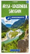 Cover-Bild zu Hallwag Kümmerly+Frey AG (Hrsg.): Arosa - Lenzerheide - Savognin 35 Wanderkarte 1:40 000 matt laminiert. 1:40'000