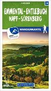 Cover-Bild zu Hallwag Kümmerly+Frey AG (Hrsg.): Emmental - Entlebuch Napf - Sörenberg 19 Wanderkarte 1:40 000 matt laminiert. 1:40'000