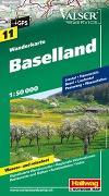 Cover-Bild zu Hallwag Kümmerly+Frey AG (Hrsg.): Baselland Wanderkarte Nr. 11, 1:50 000. 1:50'000