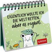 Cover-Bild zu Groh Redaktionsteam (Hrsg.): Eigentlich wollte ich die Welt retten, aber es regnet