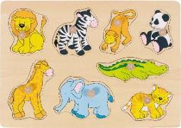 Cover-Bild zu Steckpuzzle Zootiere