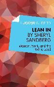 Cover-Bild zu eBook A Joosr Guide to... Lean In by Sheryl Sandberg