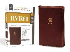 Cover-Bild zu RVR60 Santa Biblia Letra Supergigante, Leathersoft, Café c/Cierre