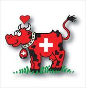 Cover-Bild zu 1879; Taschen-Aschenbecher mini Kuh Switzerland