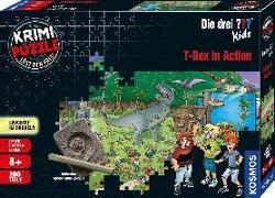 Cover-Bild zu Krimi Puzzle: Die drei ??? Kids 200 Teile - T-Rex in Action