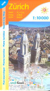 Cover-Bild zu Zürich Tourist City Map. 1:10'000