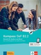 Cover-Bild zu Braun, Birgit: Kompass DaF B2.2. Kurs- und Übungsbuch mit Audios und Videos