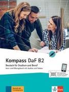 Cover-Bild zu Braun, Birgit: Kompass DaF B2. Kurs- und Übungsbuch mit Audios und Videos