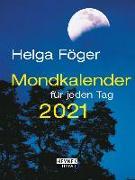 Cover-Bild zu Mondkalender für jeden Tag 2021 von Föger, Helga