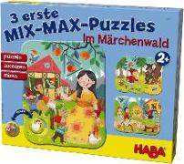 Cover-Bild zu Faust, Christine (Illustr.): 3 erste Mix-Max-Puzzles - Im Märchenwald