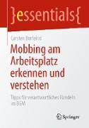 Cover-Bild zu Mobbing am Arbeitsplatz erkennen und verstehen (eBook) von Burfeind, Carsten