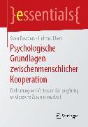 Cover-Bild zu Psychologische Grundlagen zwischenmenschlicher Kooperation (eBook) von Pastoors, Sven