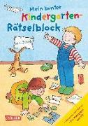 Cover-Bild zu Mein bunter Kindergarten-Rätselblock von Sörensen, Hanna