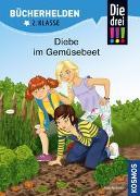 Cover-Bild zu Die drei !!!, Bücherhelden 2. Klasse, Diebe im Gemüsebeet