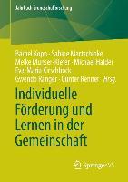 Cover-Bild zu Individuelle Förderung und Lernen in der Gemeinschaft von Kopp, Bärbel (Hrsg.)