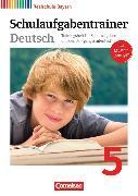 Cover-Bild zu Deutschbuch - Realschule 5. Schuljahr. Schulaufgabentrainer. BY von Bildl, Gertraud