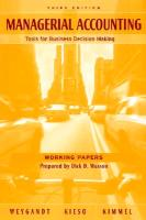 Cover-Bild zu Working Papers to Accompany Managerial Accounting: Tools for Business Decision Making, 3rd Edition von Weygandt, Jerry J.